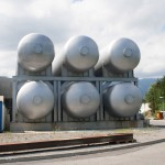 Helium tanks used by the LHC.